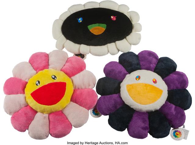 Takashi Murakami, 'Flower Cushion (set of 3)', Heritage Auctions