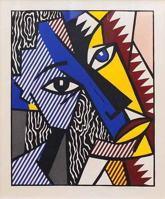 Roy Lichtenstein, 'HEAD', 1980, Print, Woodcut in colors with embossing on Arches Cover paper., Marcel Katz Art