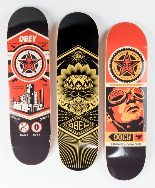 Shepard Fairey, 'Group of Three Skateboard Decks', Heritage Auctions