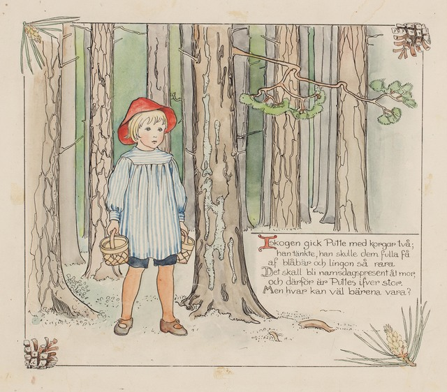, 'Puttes äventyr i blåbärsskogen (Peter in Blueberry Land),' 1901, CFHILL