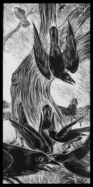 Ellen LeBow, 'Gathering of Crows', 2019, Rice Polak Gallery