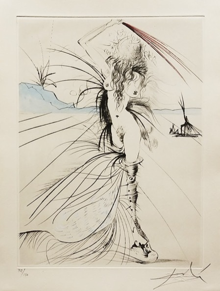 Salvador Dalí, 'Woman with Whip', 1969, Print, Original etching, Galerie d'Orsay