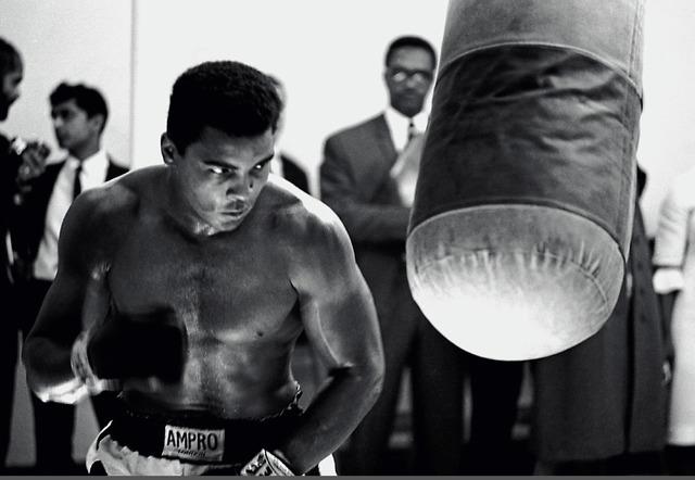 , 'Muhammad Ali training prior a fight,' 1966, Galeria de Babel