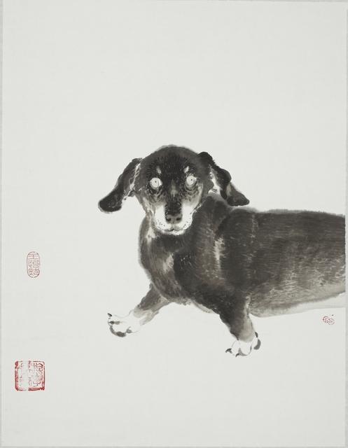 王怡然Wang Yi-Jan, '犬童丸', 2018, Painting, Ink and colors on paper, Asia University Museum of Modern Art