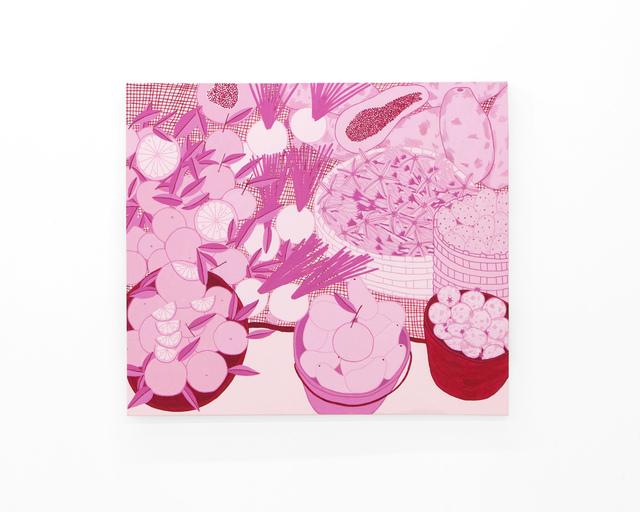 ", '""Bajo la luz rosa del Tianguis 3"" (Under the market's pink light 3),' 2018, pt.2"