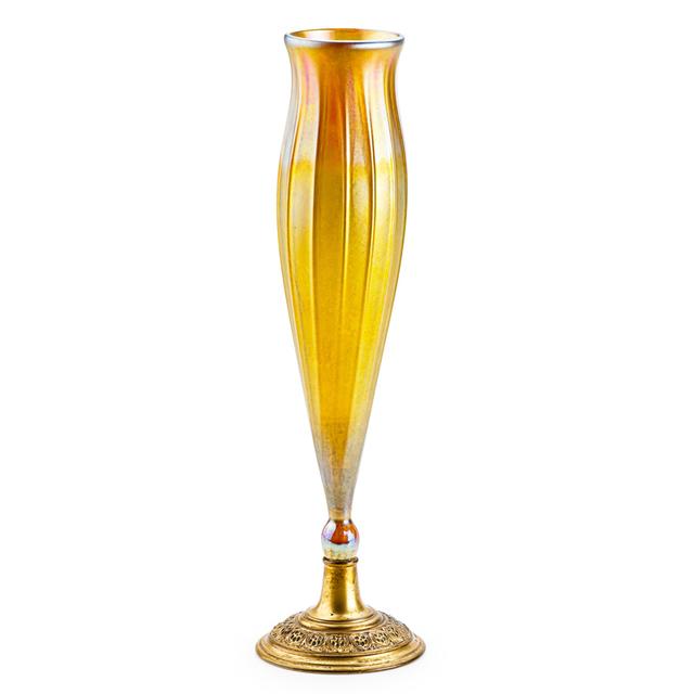 Tiffany Studios, 'Gold Favrile Ribbed Vase, New York', Early 20th C., Rago/Wright