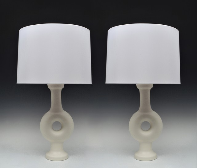 , 'Pair of Annulaire Vase Lamps,' ca. 1960, Lebreton