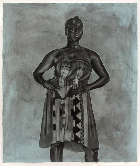 , 'Blue Black Afro Majestic,' 2012, Koplin Del Rio