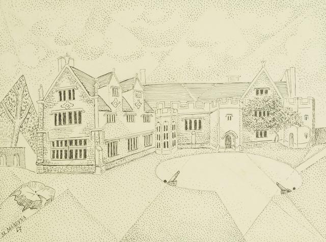 Marie Vorobieff Marevna, 'A pointillist depiction of Athelhampton', 1957, Roseberys