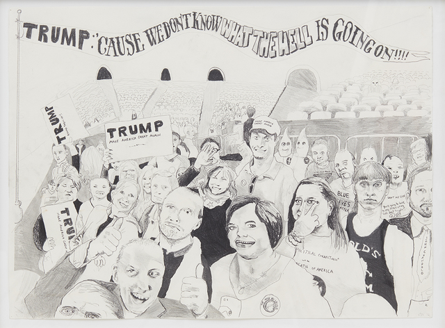 , 'Trump Ralley (And Some of them I Assume Are Good People),' 2016, NINO MIER GALLERY
