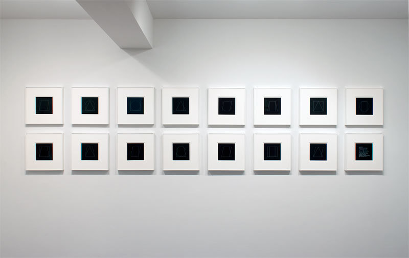 "Sol LeWitt's ""All All Double Combinations (Superimposed) of Six Geometric Figures