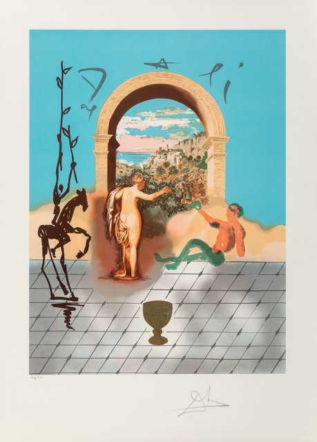 Salvador Dalí, 'Dali Discoveres America', 1979, Print, Lithographs in colors on Arches paper, Heritage Auctions