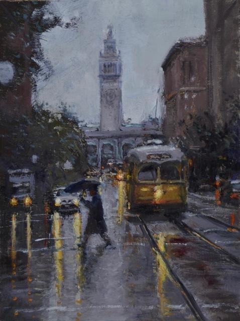 , 'Rainy Market Street,' 2019, George Billis Gallery