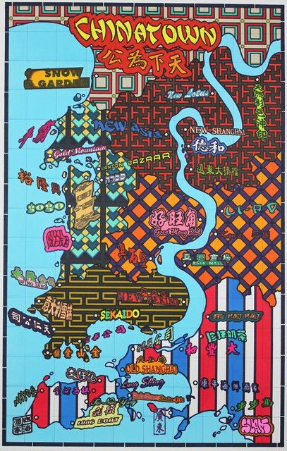 Lordy Rodriguez, 'San Francisco Neighborhood- Chinatown', 2013, Drawing, Collage or other Work on Paper, Ink on paper, Hosfelt Gallery
