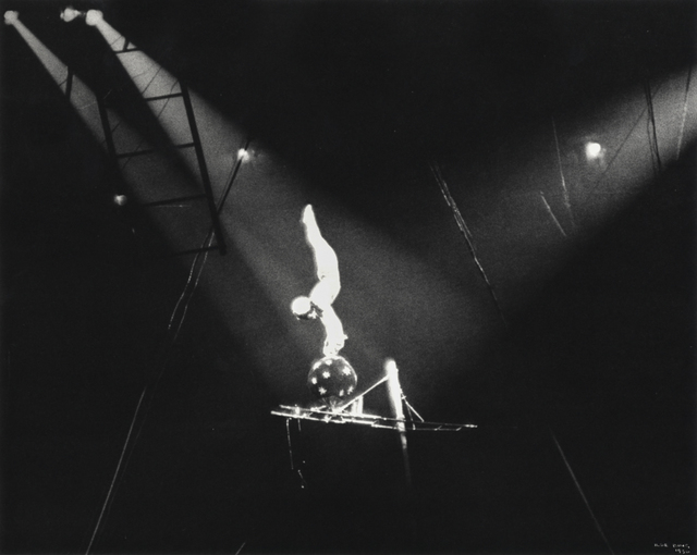 , 'Circus Acrobat on Black Ball, New York,' 1936, Robert Klein Gallery
