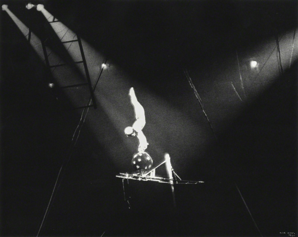Circus Acrobat on Black Ball, New York