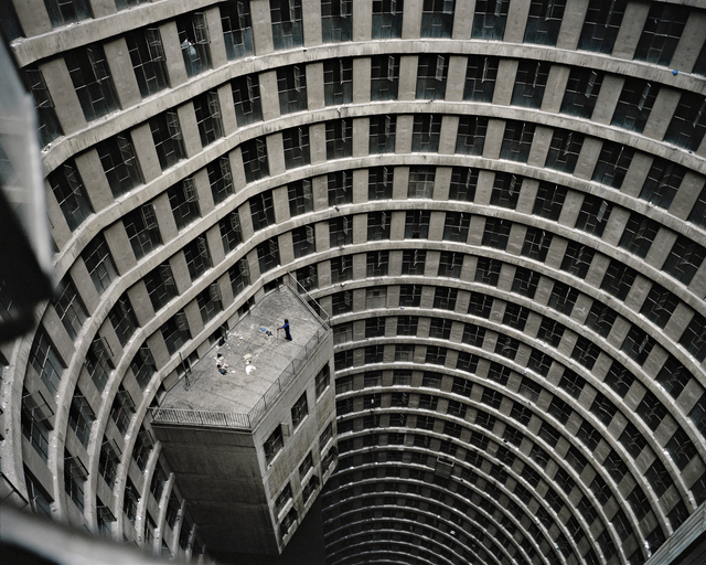, 'Sweeping the Core, Ponte City,' 2012, Goodman Gallery