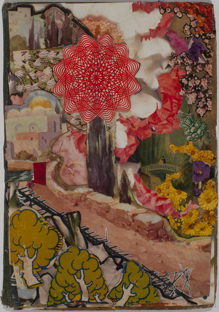 Lance Letscher, 'Pink Path', 2019, Drawing, Collage or other Work on Paper, Collage on book, Tayloe Piggott Gallery