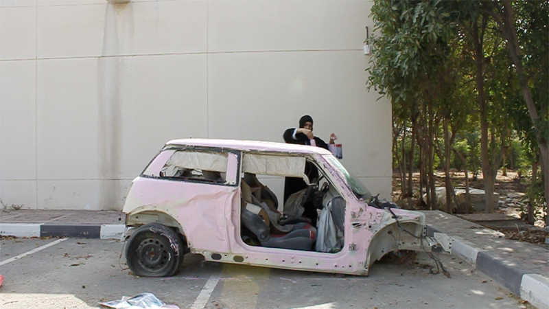 Sarah Abu Abdallah, Still from Saudi Automobile, 2012, video performance, Foto & Courtesy the artist