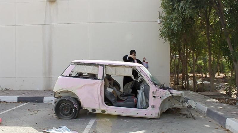 Sarah Abu Abdallah, Still from Saudi Automobile, 2012, video performance, Foto & Courtesy the artist