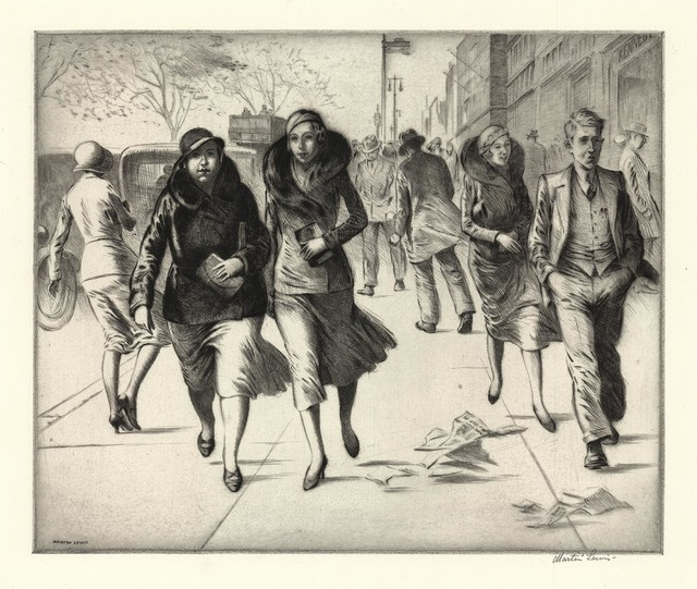 , 'Windy Day.,' 1932, The Old Print Shop, Inc.