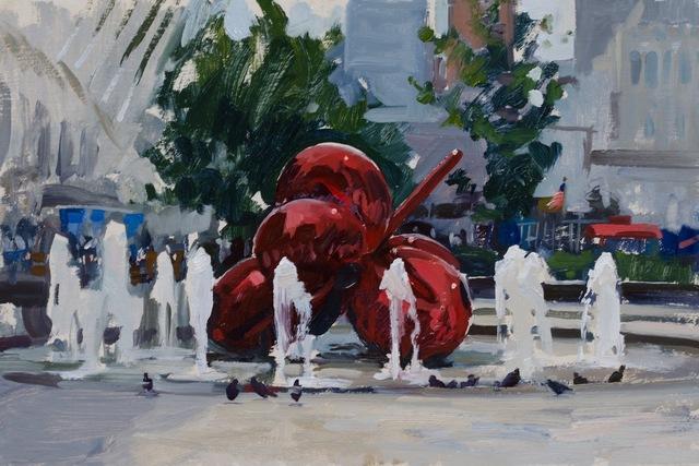 , 'A Plein Air Koons,' 2015, Grenning Gallery