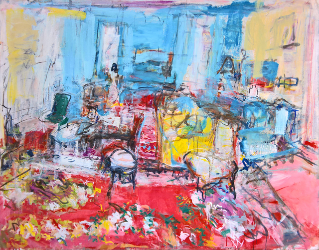, 'The drawing room in blue and red,' 2017, Bernard Chauchet Contemporary Art