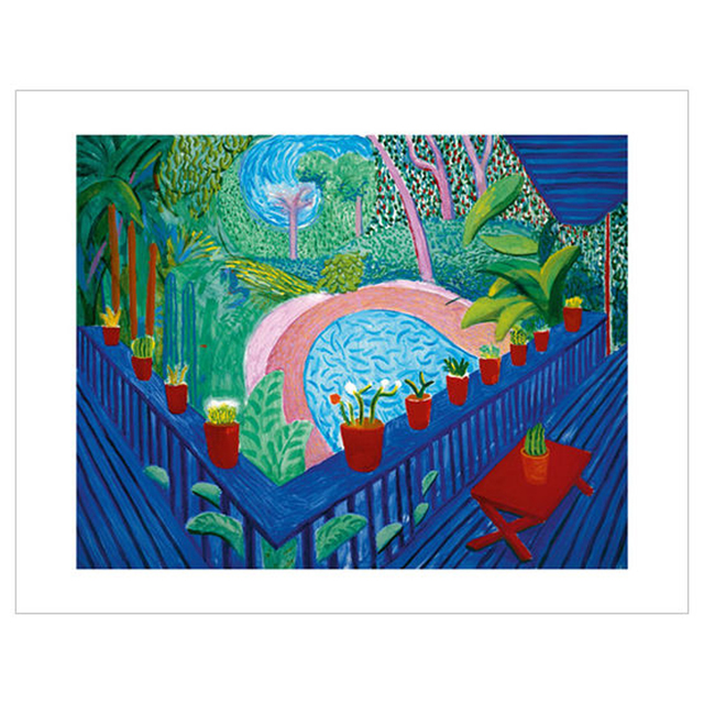 David Hockney, 'Red Pots in Garden', 2017, Print, Ten colour giclée printed on 330 gsm somerset enhanced radiant white 100% cotton rag paper with torn edges, EHC Fine Art Gallery Auction