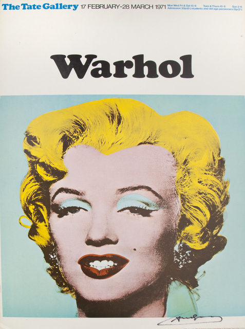 Andy Warhol, 'Tate Gallery Exhibition Poster', 1971, Julien's Auctions