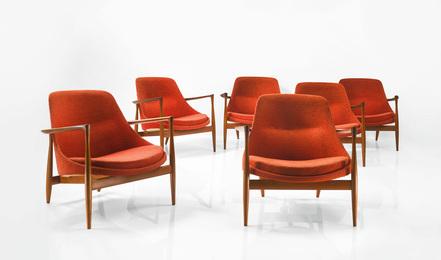 "Ib Kofod-Larsen, 'Set of Six ""Elizabeth"" Armchairs,' circa 1956, Sotheby's: Important Design"