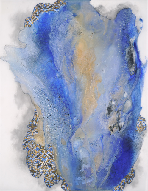 Hedieh Javanshir Ilchi, 'Ashen lands and blue skies 2', 2019, Drawing, Collage or other Work on Paper, Acrylic and Graphite on Mylar, Hemphill Artworks