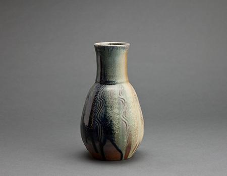 , 'Hourglass vase, ash and cobalt glaze,' , Pucker Gallery