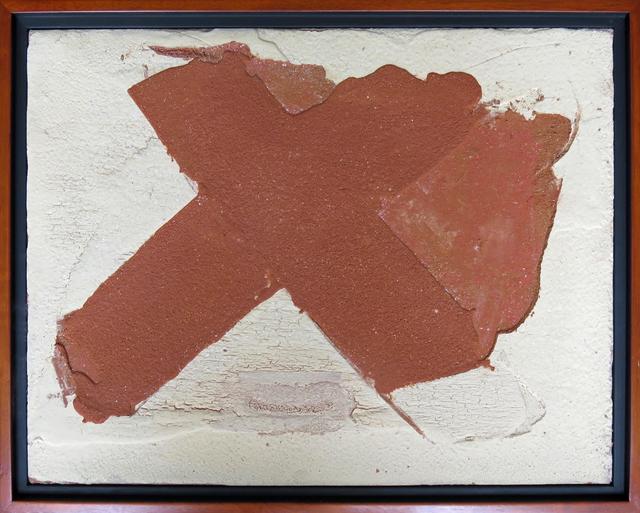 , 'Red X White Background,' 2015, Beatriz Esguerra Art
