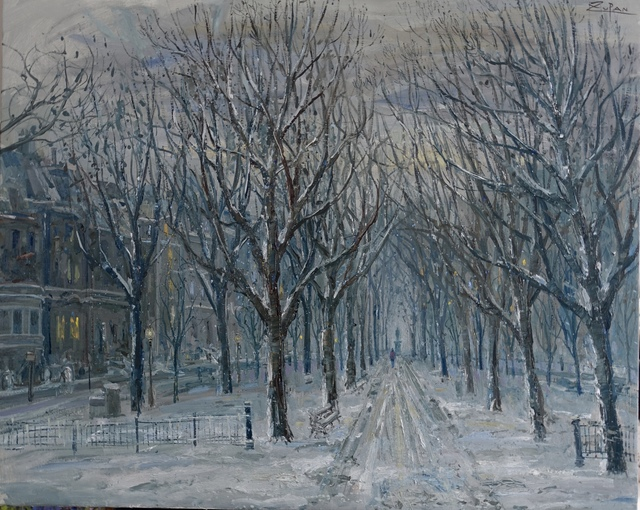, 'Commonwealth Avenue, Boston, Late Snow,' 2017, Galerie d'Orsay