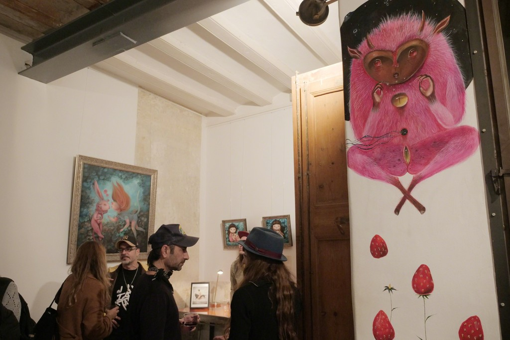 Wall painting by Peca at Fousion Gallery