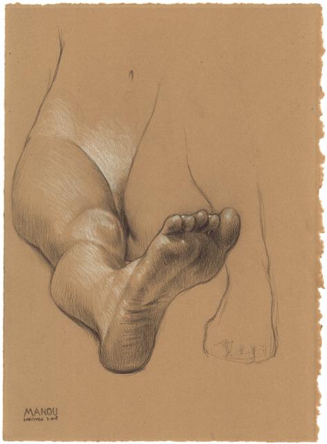 , 'Manou Seated, One Leg Out,' 2018, Jenn Singer Gallery
