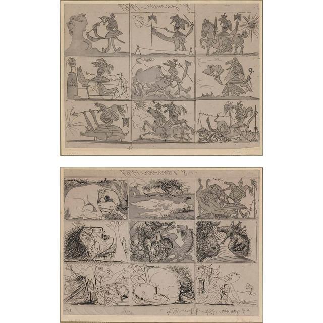 Pablo Picasso, 'SUEÑO Y MENTIRA DE FRANCO (B. 297-298; BAER 615-616; CRAMER BOOKS 28)', 1937, Doyle