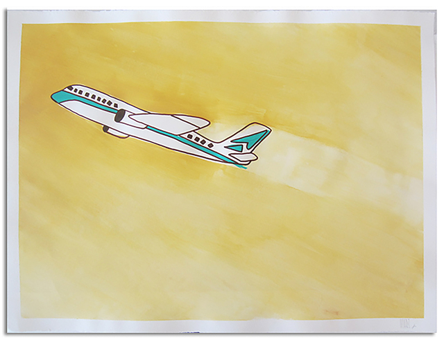 Marz Junior, 'Plane', 2019, Painting, Acrylic & ink on paper, Wallspace