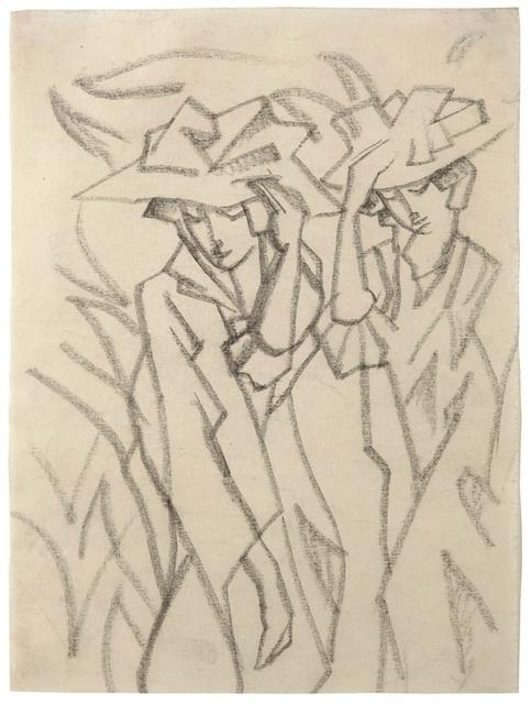 , 'Frauen mit Hüten,' 1913, Galerie Utermann