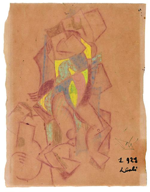 Salvador Dalí, 'Cubist composition', 1921, Galerie Michel Descours