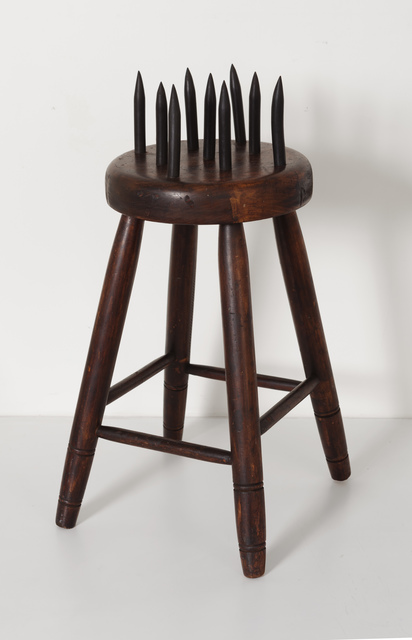, 'Fraternal Lodge Initiation Stool,' ca. 20, Ricco/Maresca Gallery