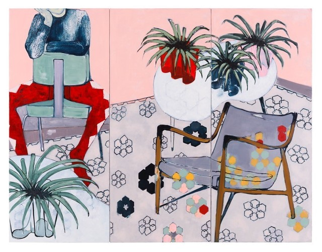 , 'Spider Plants and Harlequin (Triptych),' 2017, Galerie Huit