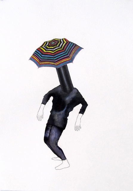 Alice Gibney, 'Umbrella-Head (Wise class clown)', 2015, Massey Klein Gallery
