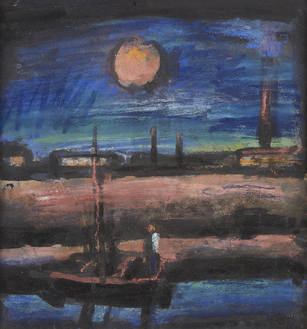 Georges Rouault, 'Orphée', 1930, Drawing, Collage or other Work on Paper, Oil pastel, watercolor and India ink wash on paper, Freeman's