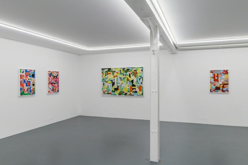Vik Muniz, Handmade, exhibition view, Galerie Xippas, Paris, 2018. Photo Frédéric Lanternier.
