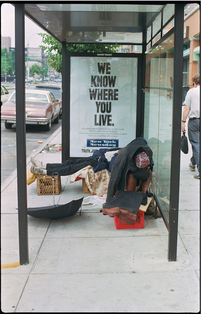 Clayton Patterson, 'Untitled (We know where you live in)', 1990, Tillou Fine Art