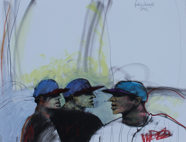 , 'Baseball Players 1,' 2013, Adah Rose Gallery