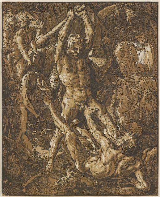 , 'Hercules Slaying Cacus,' 1588, Bowdoin College Museum of Art