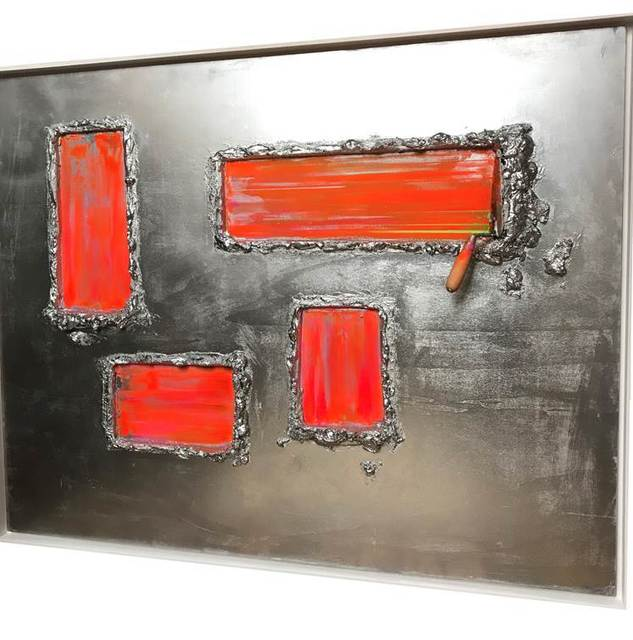 , 'Truelle arrêtée orange ,' 2018, Galerie Vivendi