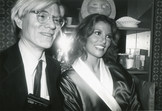 , 'Andy Warhol Backstage with Raquel Welch, Interview Cover Girl, After Her Performance in Broadway's Woman of the Year 1981,' 1981, Boca Raton Museum of Art